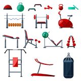 Fitness gym equipment Royalty Free Stock Photography