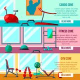 Fitness gym equipment Royalty Free Stock Photo