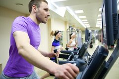 Fitness in gym Stock Image