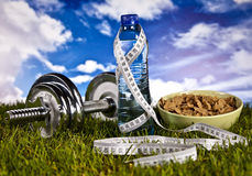 Fitness, gym, healthly lifestyle Royalty Free Stock Image