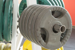 Fitness gym heavy lifting gear Stock Photos
