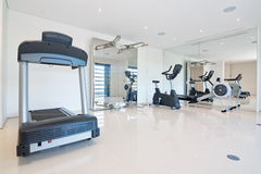 Fitness gym at home. Stock Photos