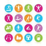 Fitness and gym icon Stock Images