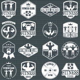 Fitness gym icons Stock Image