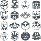 Fitness gym icons Stock Photo
