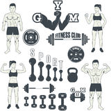 Fitness gym icons Royalty Free Stock Photography
