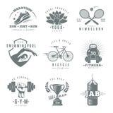 Fitness Gym Label Set Royalty Free Stock Photos
