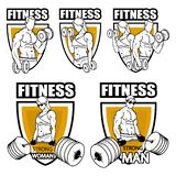 Fitness gym logo, fitness training. Vector graphic to design vector illustration