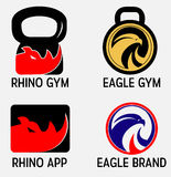 Fitness Gym Logos Royalty Free Stock Photo