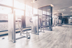 Fitness gym with the modern sport equipment. Stock Photo