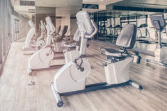 Fitness gym with the modern sport equipment. Royalty Free Stock Image