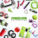 Fitness Gym Composition Royalty Free Stock Photos