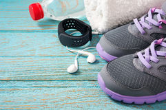 Fitness gym set Royalty Free Stock Images