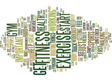 Fitness And Gym Text Background  Word Cloud Concept Stock Photography