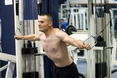 Fitness gym training Stock Image