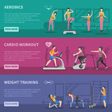 Fitness Gym Training Banners Stock Images