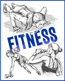 Fitness gym - women and girls Royalty Free Stock Images