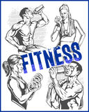 Fitness gym - women and girls Stock Photography