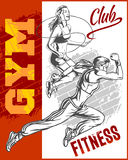 Fitness gym - women and girls Stock Images