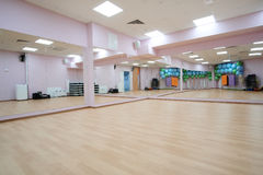 Fitness hall. Interior of a fitness hall Stock Photo