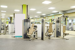 Fitness hall with sport equipment Stock Photo