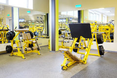 Fitness hall with sport equipment Royalty Free Stock Image