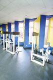 Fitness hall with sport equipment Royalty Free Stock Photo