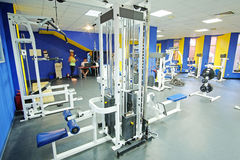 Fitness hall with sport equipment Stock Images