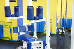 Fitness hall with sport equipment Stock Photography