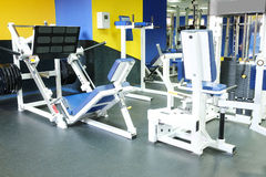 Fitness hall with sport equipment Royalty Free Stock Images