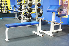 Fitness hall with sport equipment Stock Image