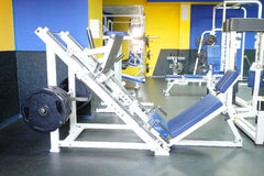 Fitness hall with sport equipment Stock Photos