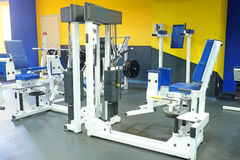 Fitness hall with sport equipment Royalty Free Stock Photography