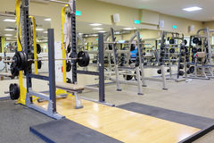 Fitness hall with wights and other sport equipment Royalty Free Stock Photography