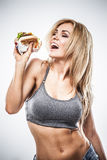 Fitness hamburger Royalty Free Stock Photos