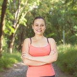 Fitness Happy Healthy Young Woman Outdoor Stock Images
