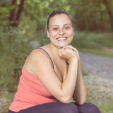 Fitness Happy Healthy Young Woman Outdoor Stock Photo