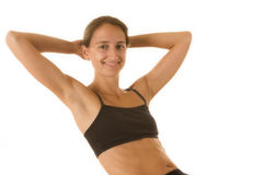 Fitness and Health. Beautiful young woman wearing workout clothes Royalty Free Stock Photos