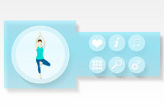 Fitness and health app menu Royalty Free Stock Photography