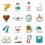 Fitness and health care icons Royalty Free Stock Image