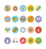 Fitness and Health Colored Vector Icons 6 Royalty Free Stock Photos
