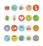 Fitness and Health Colored Vector Icons 3 Stock Photography