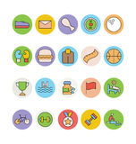 Fitness and Health Colored Vector Icons 4 Stock Image