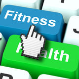 Fitness Health Computer Shows Healthy Lifestyle Stock Image