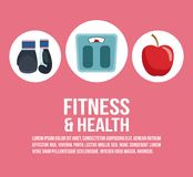 Fitness and health vector illustration