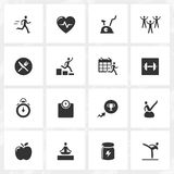 Fitness and Health Icons Royalty Free Stock Images
