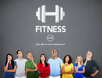 Fitness Health Physical Strength Training Workout Concept Stock Photography