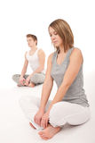 Fitness - Healthy couple stretching after training Royalty Free Stock Photography