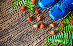 Fitness, healthy eating and active lifestyles Concept,  sport sh Stock Photography