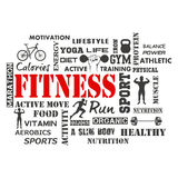 Fitness and Healthy Exercise Word Royalty Free Stock Photo